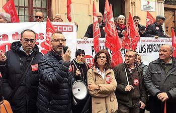Concentración en Toledo en defensa de pensiones dignas.