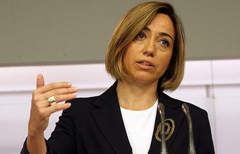 Carme Chacón, ex ministra de Defensa.