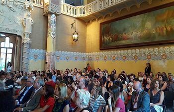 Presentación del Grupo Ciudades Patrimonio de la Humanidad en Barcelona.