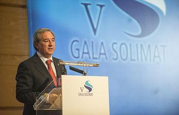 Ángel Nicolas en la V Gala Solimat.