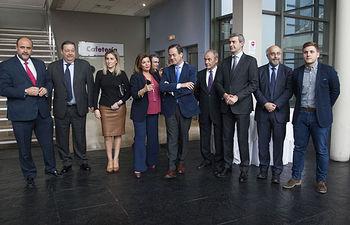 Álvaro Gutiérrez junto al resto de autoridades asistentes al 15 Aniversario de RCM