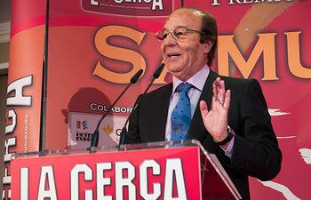 Samuel Flores durante la gala de entrega de los VIII Premios Taurinos Samueles.