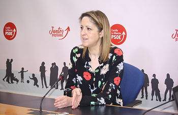 Cristina Maestre, portavoz del PSOE en la región.