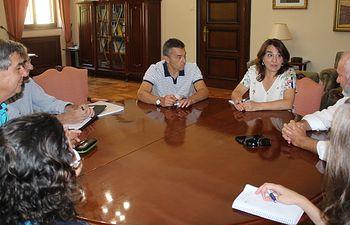 El subdelegado del Gobierno se reúne con los responsables de la Estación de Mecánica Agrícola del Ministerio y de la dirección provincial de Agricultura