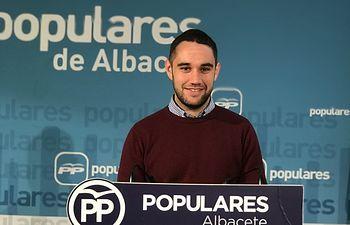Alejandro Sánchez, vicesecretario de organización de Nuevas Generaciones Albacete y responsable provincial de Populares Solidarios.