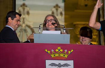Javier Cuenca, alcalde de Albacete, y Marta Torres, Pregonera FERIA ALBACETE 2016.