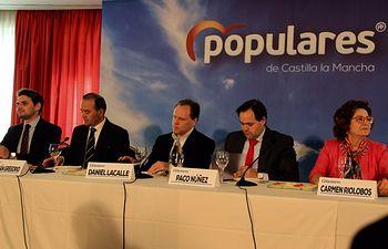 Encuentro del candidato al Congreso por Madrid con empresarios de Talavera de la Reina