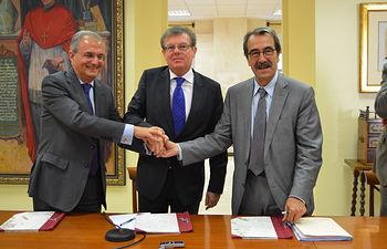Ignacio Egea, Miguel Ángel Collado y Emilio Ontiveros.