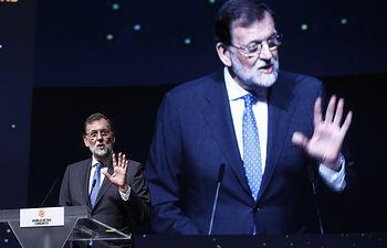 El presidente del Gobierno, Mariano Rajoy, durante su intervención en la inauguración del XII World Retail Congress.