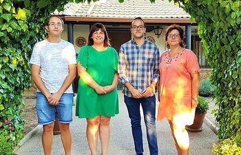 De izq a dcha Daniel Padilla, Noelia Garrigós, Fran Valera y María José Vázquez