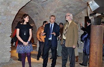 Inauguración de la exposición en el Antiguo Casino