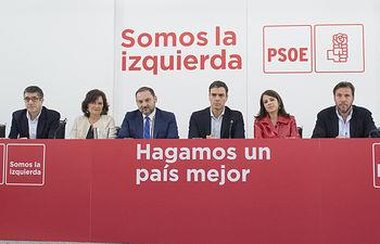 El secretario general, Pedro Sánchez reúne a la Comisión Ejecutiva Federal.