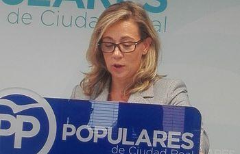 Lola Merino, viceportavoz del PP de Castilla-La Mancha.