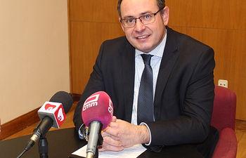 El alcalde de Almansa, Javier Sánchez Roselló.