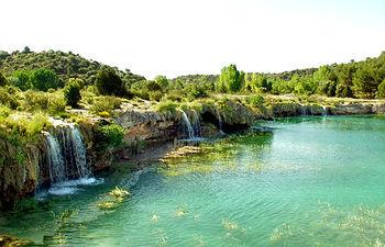 Imagen de la laguna La Colgada, en las Lagunas de Ruidera.
