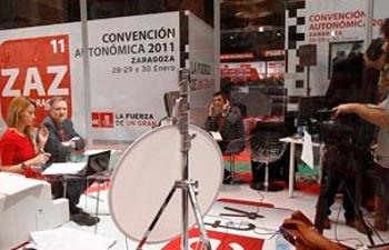 Plató de PSOETV en la Convención
