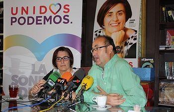 Rueda de prensa en Valdepeñas.