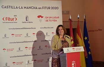 La consejera de Economía, Empresas y Empleo, presenta el proyecto de Castilla-La Mancha para FITUR 2020