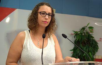 Sara Simón, viceportavoz del Grupo Socialista.