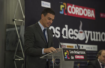 Pedro Sánchez desayuno Diario Córdoba