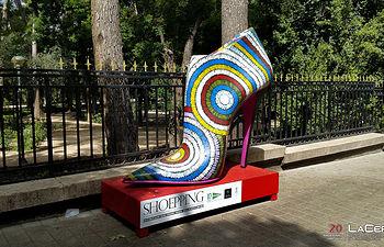 Exposición esculturas zapatos El Corte Inglés