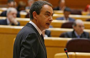 Zapatero, en el Senado (foto de archivo)
