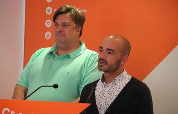 Israel Marco y Fernando Parlorio, concejales del grupo municipal de Cs Guadalajara.