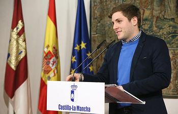 l portavoz del Gobierno regional, Nacho Hernando informa, sobre los acuerdos del Consejo de Gobierno. Foto: JCCM.