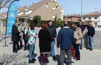 Concejales del Grupo Popular Municipal han visitado la zona y han recogido las quejas de los vecinos