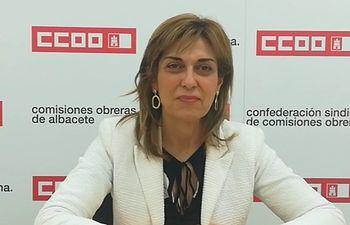 Carmen Juste,  Secretaria general de CCOO-Albacete.