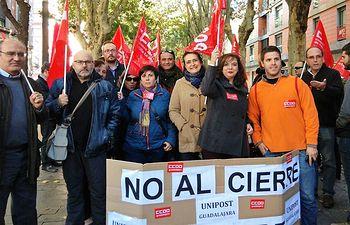 CCOO y la plantilla de Unipost-Guadalajara exigen a Montoro que actúe para evitar la destrucción de 4.000 puestos de trabajo