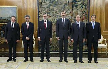 Rajoy, en el acto de jura como vocal del Consejo General del Poder Judicial (Foto: EFE)