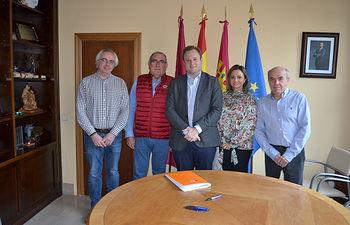 Reunión con la junta rectora de la Academia de Medicina de Castilla-La Mancha.
