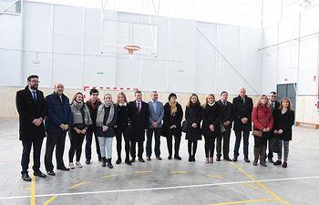 Inauguración del pabellón del IES 'Pedro Mercedes' de Cuenca