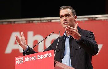 Acto de precampaña del PSOE en Guadalajara, con la presencia de Pedro Sánchez y Emiliano García-Page. Foto: EVA ERCOLANESE