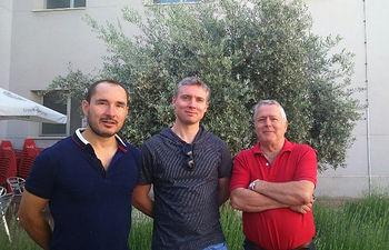 De izqda. a dcha: José Ángel De Toro, Peter Normile, Pablo Muñiz.