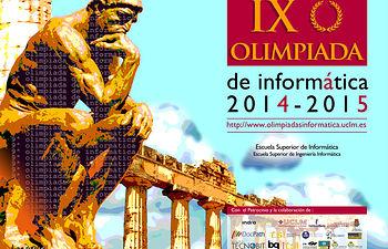 Fragmento del cartel anunciador de la IX Olimpiada de Informática.