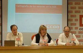 José Manuel Vera, Carmen López y Jesús Calvo