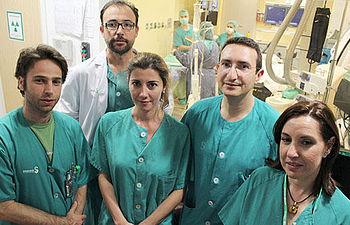 El equipo de cardiólogos de la Unidad de Arritmias del C.H. de Toledo