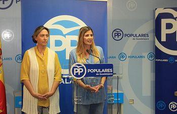 Foto PP-CLM- Agudo y Guarinos en el Comité de Dirección en Guadalajara.