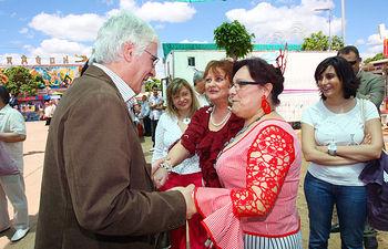 El presidente de Castilla-La Mancha, José María Barreda, asistió hoy a la Feria de Puertollano (Ciudad Real).