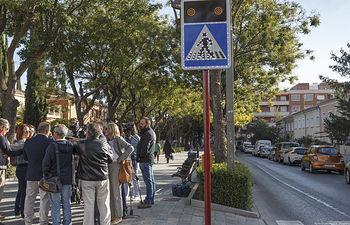 Visita a Instalación de sistemas inteligentes de seguridad vial, paso de peatones