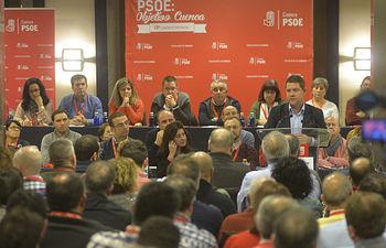 Emiliano García-Page, durante la inauguración del Congreso Provincial del PSOE de Cuenca, que se celebra este fin de semana