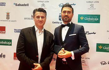 Premio Soriano junto a Manuel Murcia en los 17º Premios Aje.