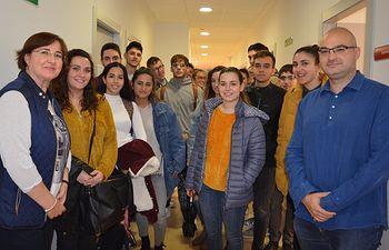 CCOO recibe visita alumnado F RRLL RRHH con la responsable asesoría Jurídica Encarna Tarancón.