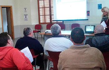 Fotografía del taller celebrado en Calzada de Calatrava