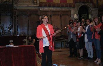 Colau se convierte en alcaldesa con los votos de BComú, ERC, PSC y uno de la CUP. Foto: EUROPA PRESS