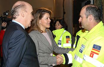 Cospedal recibe a trabajadores de la empresa Ambulancias Finisterre1. Foto: JCCM.