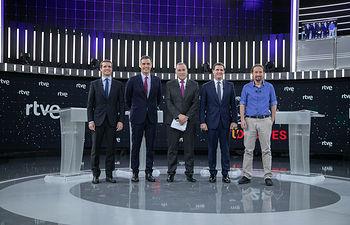 Debate Electoral en TVE para las Elecciones Generales del 28A. Foto: Foto Eva Ercolanese