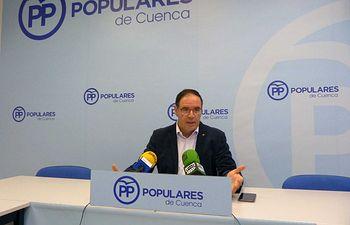Benjamín Prieto en rueda de prensa.
